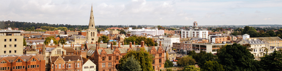 Bedford Town Centre skyline