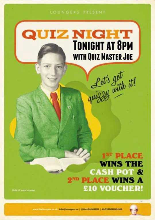 Albero Lounge Bedford Quiz Nights on Mondays
