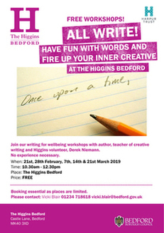 All Write! Creative Writing Workshops at The Higgins Bedford