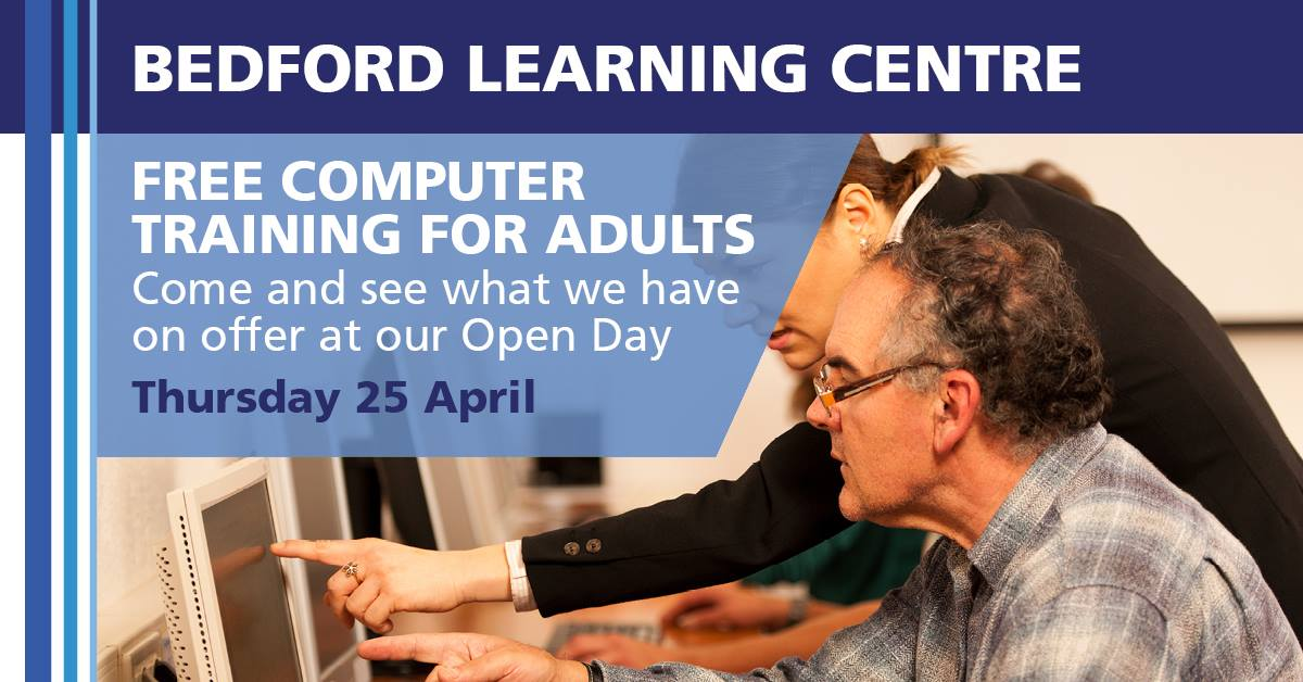 Free computer training for adults at Bedford Learning Centre