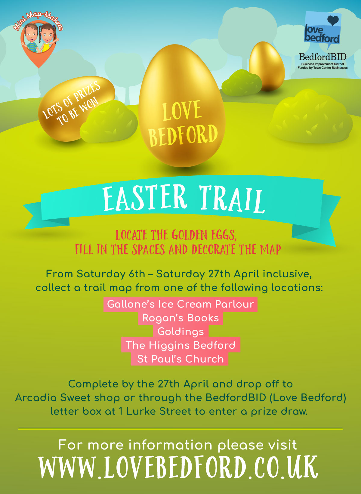 Love Bedford Easter Trail (6th-27th April)