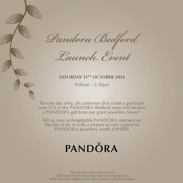 Love bedford events pandora jewellery launch event stopboris Gallery