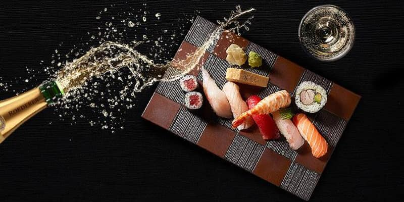 Sushi and Champagne night at Decant Wine and Cheese Deli