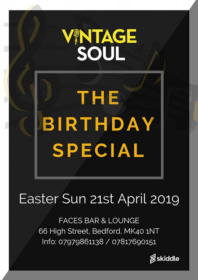 Vintage Soul at Faces Bar & Lounge Bedford