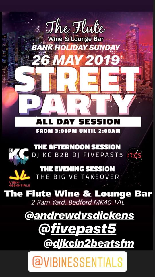 Street Party at The Flute Wine & Lounge Bar