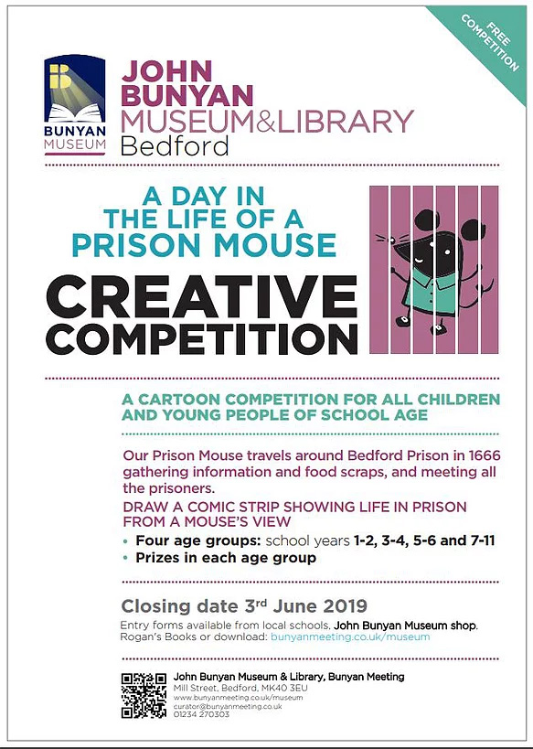 Prison Mouse Creative Competition at John Bunyan Museum