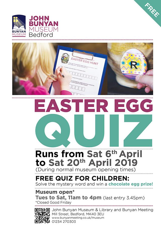 Easter Egg Quiz at John Bunyan Museum (6th-20th April)