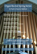 Saturday Organ Recitals at St Paul's Church Bedford