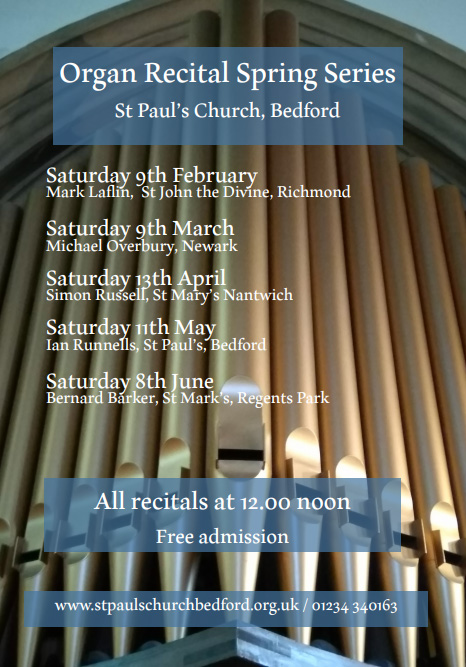 Saturday Organ Recitals at St Paul's Church Bedford