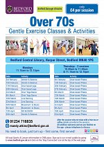 Over 70's Gentle Exercise & Activities at Bedford Central Library