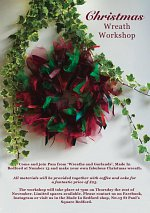 Christmas Wreath Workshop at Made In Bedford at Number 13